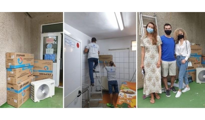 Today AutoKarma doneaza aere conditionate pentru Sectia Pediatrica a Institutului Marius Nasta Bucuresti