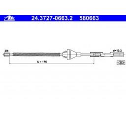 Cablu frana mana ATE