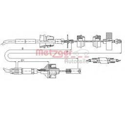 Cablu ambreiaj METZGER