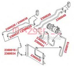 Conducta presiune variabila aer conditionat METZGER