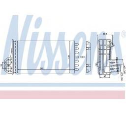 Radiator incalzire habitaclu NISSENS