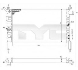 Radiator racire motor TYC