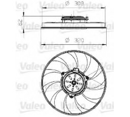 Ventilator radiator VALEO