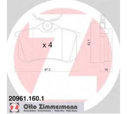 Set placute frana ZIMMERMANN