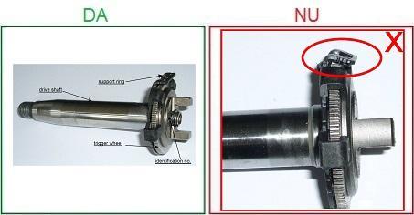 Pompele de injectie cu axul lovit nu sunt acceptate ca piese la schimb