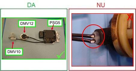 Injectoarele cu izolatia cablurilor taiata nu sunt acceptate ca piese la schimb