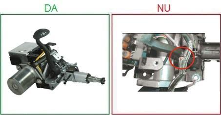 Coloanele de directie cu senzorul unghi directie taiat nu sunt acceptate ca piese la schimb
