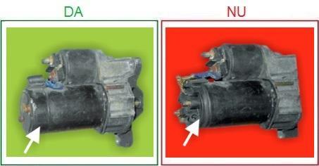 Electromotoarele cu carcasa spate lipsa nu sunt acceptate ca piese la schimb