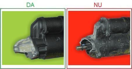 Electromotoarele cu carcasa rupta sau indoita nu sunt acceptate ca piese la schimb