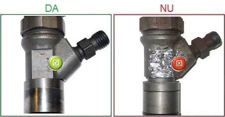 Injectoarele cu carcasa deteriorata nu sunt acceptate ca piese la schimb