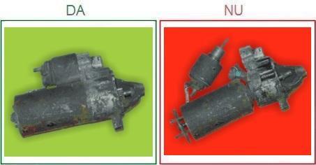 Electromotoarele dezasamblate sau incomplete nu sunt acceptate ca piese la schimb