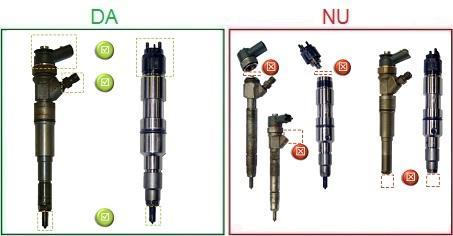 Injectoarele incomplete sau dezasamblate nu sunt acceptate ca piese la schimb