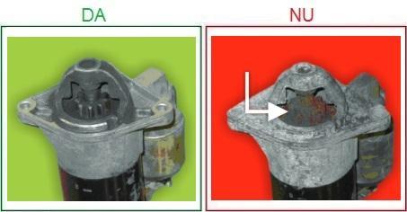 Electromotoarele cu pinioanele ruginite nu sunt acceptate ca piese la schimb