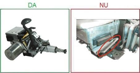 Coloanele de directie cu suportul de montare avariat nu sunt acceptate ca piese la schimb