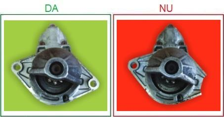 Electromotoarele cu suportii de prindere rupti nu sunt acceptate ca piese la schimb