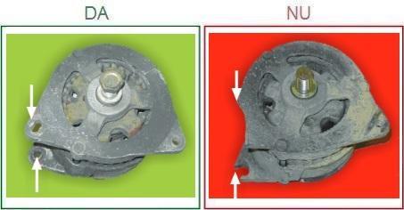 Alternatoarele cu suportii de prindere rupti nu sunt acceptate ca piese la schimb